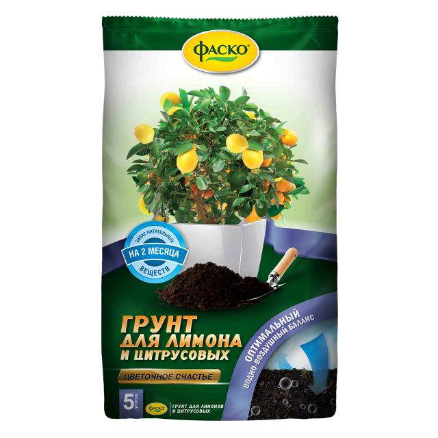 почвогрунт ФАСКО для лимона и цитрусовых 5л фаско