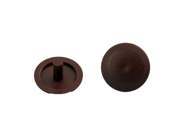 заглушка на шуруп-стяжку 5мм пластик коричневый 40шт
