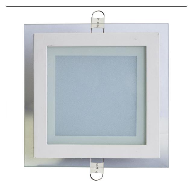светильник светодиодный встраиваемый 12Вт 220В 4000K, стекло