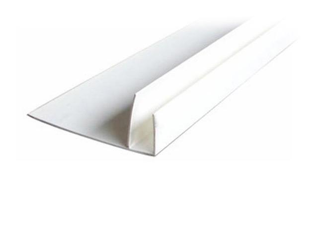 профиль для панелей ПВХ, F-образный, 3 м, белый профиль примыкающий оконный пвх 6 мм белый 2 4 м