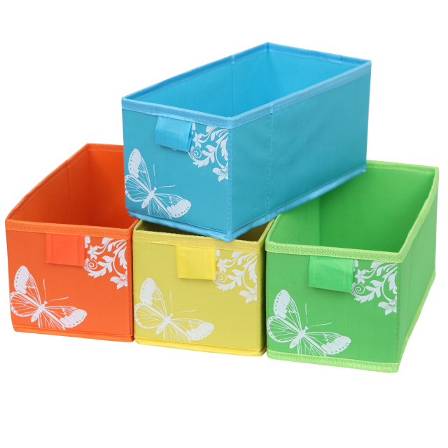 коробка д/хранения HAUSMANN 13x27x12,5 см полиэстер цвет в ассортименте все цены