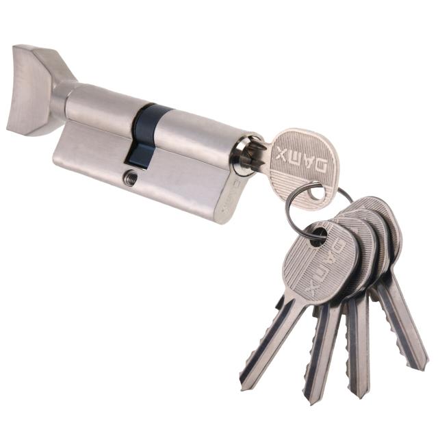 цилиндр ключевой DAMX 80мм 40+40 матовый никель вертушка ключевой цилиндр damx n70mm ac