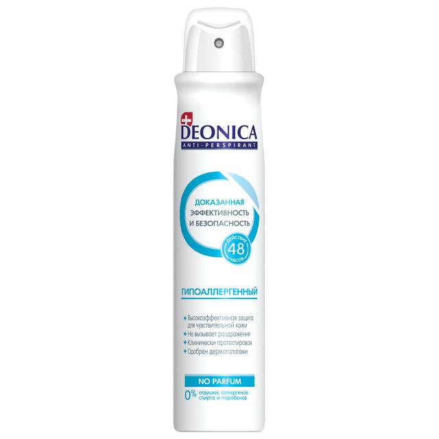 дезодорант женский DEONICA Гипоаллергенный, 200 мл, спрей