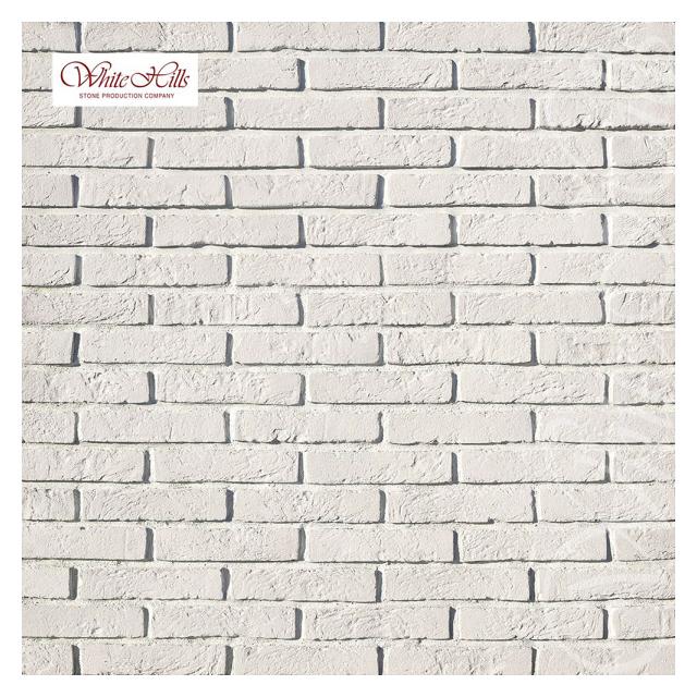 плитка декоративная бетонная WHITE HILLS Бергамо Брик белый