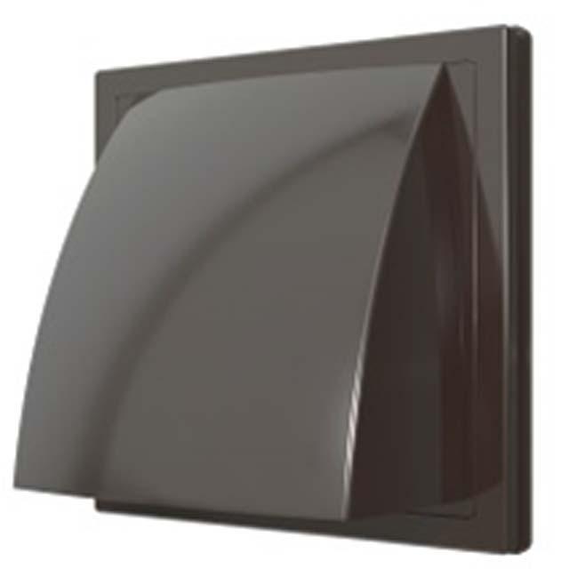 выход стенной вытяжной ЭРА с обратн клапаном 150х150 с фланцем D100мм коричневый выход era стенной вентиляционный вытяжной металлический с фланцем d100 10вм