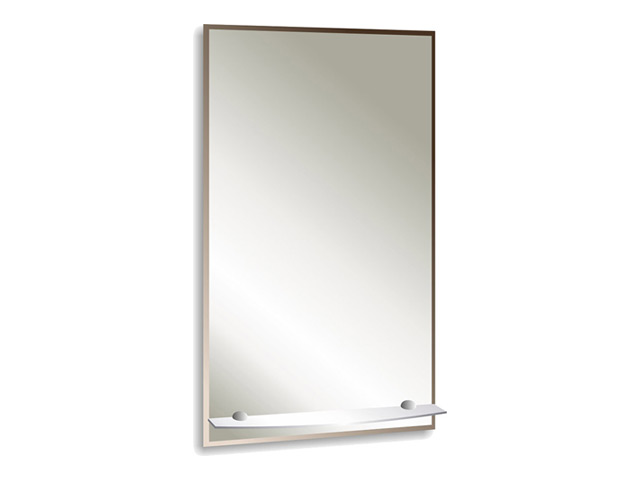 зеркало для ванной Модерн Люкс 60х80 см с полкой фацетом 10 мм