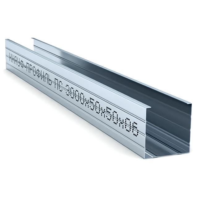профиль стоечный 50х50 мм 3 м 0,6 мм КНАУФ цена и фото