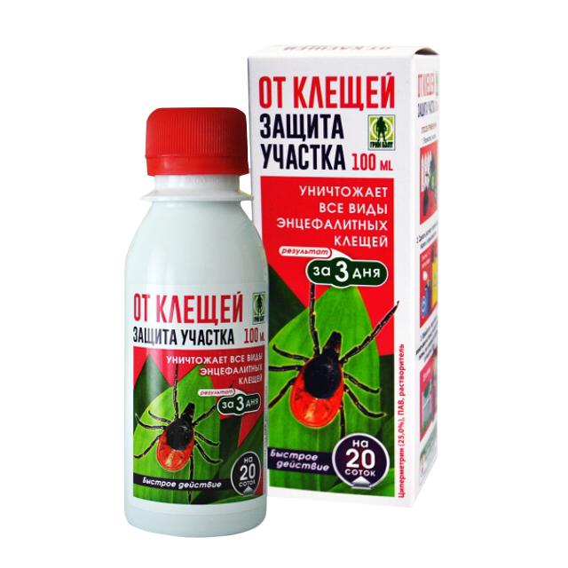 инсектицид Защита от клещей для обработки участка 100мл цена