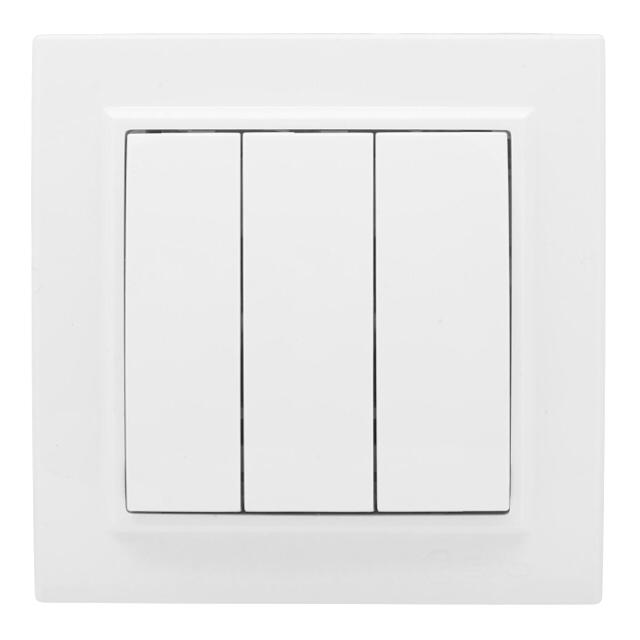 выключатель 3-клавишный EKF Минск 10А, белый