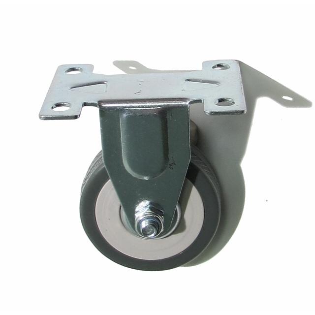 колесо неповоротное на площадке, 50 мм, резина