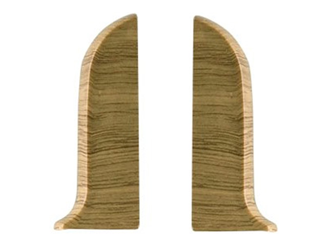 Фото - заглушки для плинтуса ПВХ SALAG NGF 56мм Дуб бурбон натуральный левая+правая заглушки для плинтуса пвх salag ngf 56мм дуб каньон левая правая