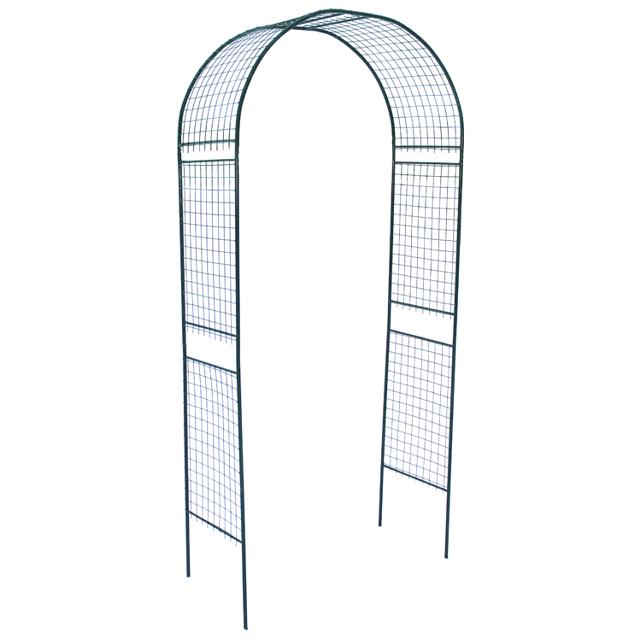 арка садовая разборная Сетка 120х50х250см металл зелёная