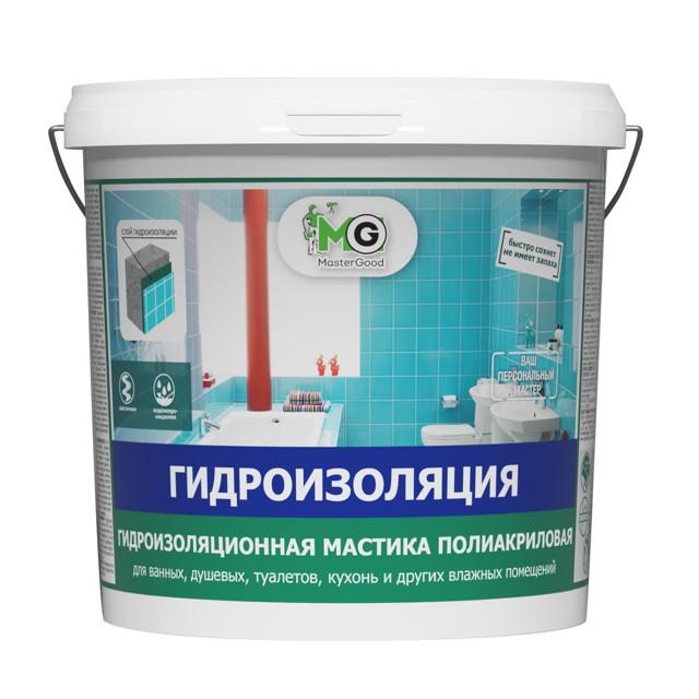 гидроизоляция MASTERGOOD полиакриловая 7 кг, арт.MG-Гидроиз-7