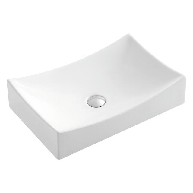 раковина накладная OFELIS Corso 54,5 см прямоуг. белая раковина накладная ofelis quadro 50 5 см квадрат белая