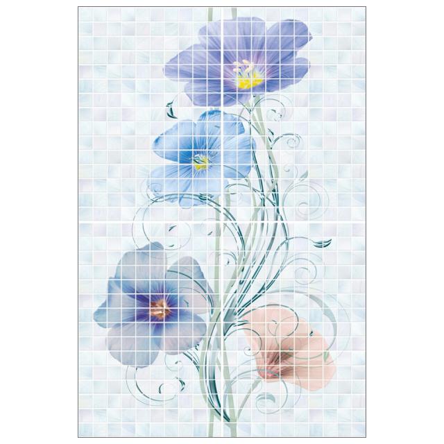 панно настенное 40х60 SUMMER цветы (из 4 пл), голубое