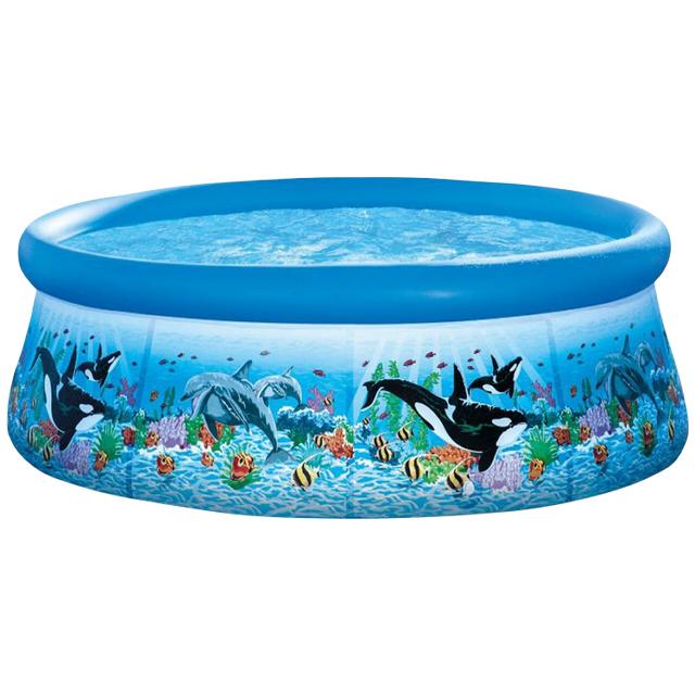 бассейн INTEX 54906 с надувным бортом 366x76см 5621л фильтр-насос бассейн intex аквариум с надувным полом 152х56 см 58480np