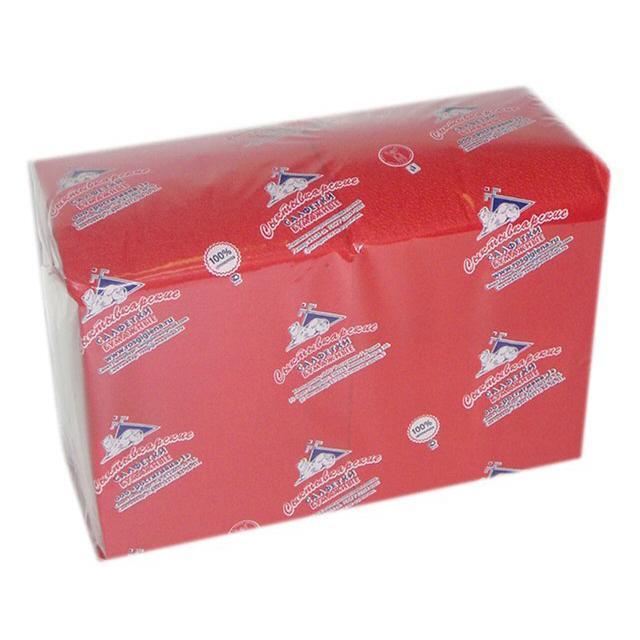 салфетки Красные 1-слойные 24х24см 400шт