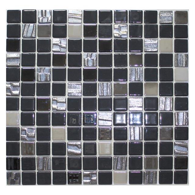 мозаика стеклянная 31,7х31,7х0,4 Astro Black, черная