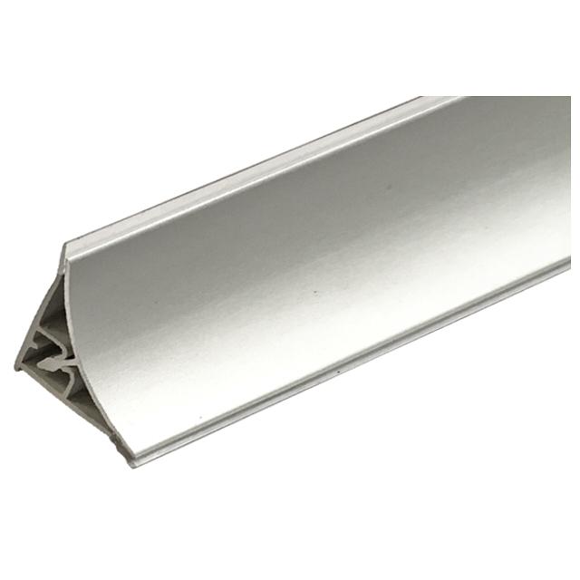 плинтус для столешниц алюминиевый вогнутый гладкий 3,05 м