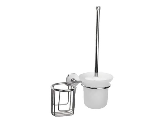 гарнитур для туалета LEDEME L1710-1, держатель освежителя, хром, белый