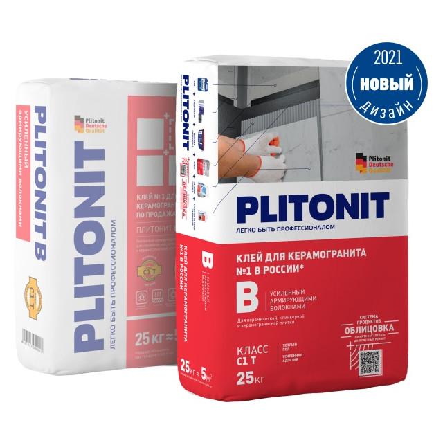 клей для кафельной плитки Плитонит-В 25кг, арт.плитонит В-25