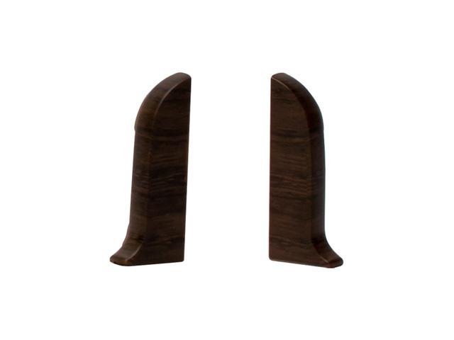 Фото - заглушки для плинтуса ПВХ SALAG NGF 56мм Орех модена левая+правая заглушки для плинтуса пвх salag ngf 56мм дуб каньон левая правая