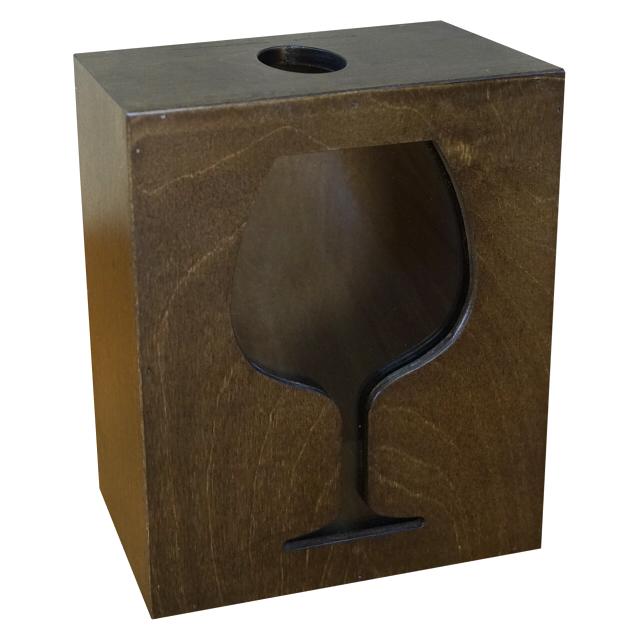 накопитель для пробок подарочный 200х80х250мм натуральное дерево коричневый