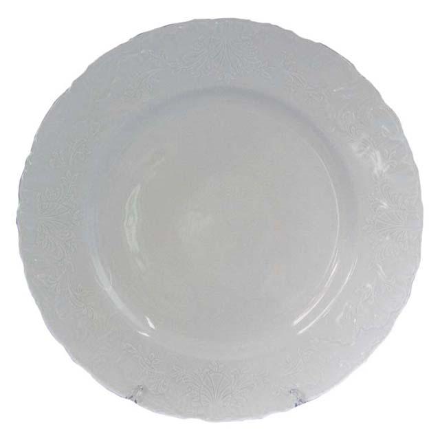 тарелка обеденная Рококо Платина, 25см, фарфор тарелка рококо платина 25см обеден фарфор