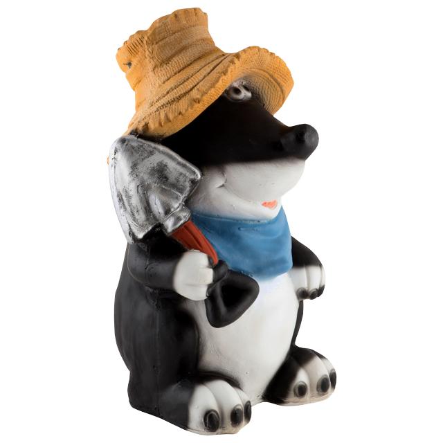 фигура садовая Крот в шляпе 45см фигура скворечник 45см