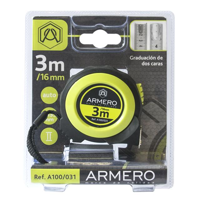 рулетка ARMERO 3мх16мм магнитная с автостопом рулетка archimedes автостоп 3 м х 16 мм