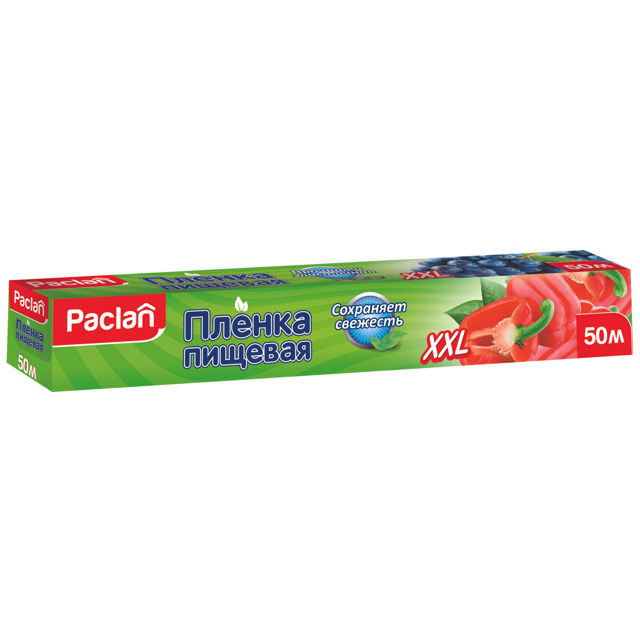 пленка пищевая PACLAN XXL 50мх29см 8,5мкм в коробке полиэтилен