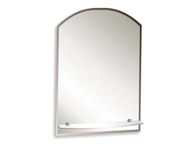 зеркало для ванной Шанс Люкс 49,5х67 см с полкой фацетом 10 мм