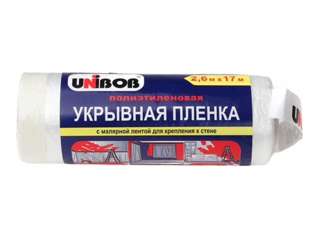 пленка укрывная с малярной лентой UNIBOB 2,7мх20м, арт.49694