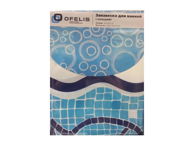 занавеска для ванной OFELIS Рыбки 180х180 см, полиэстер
