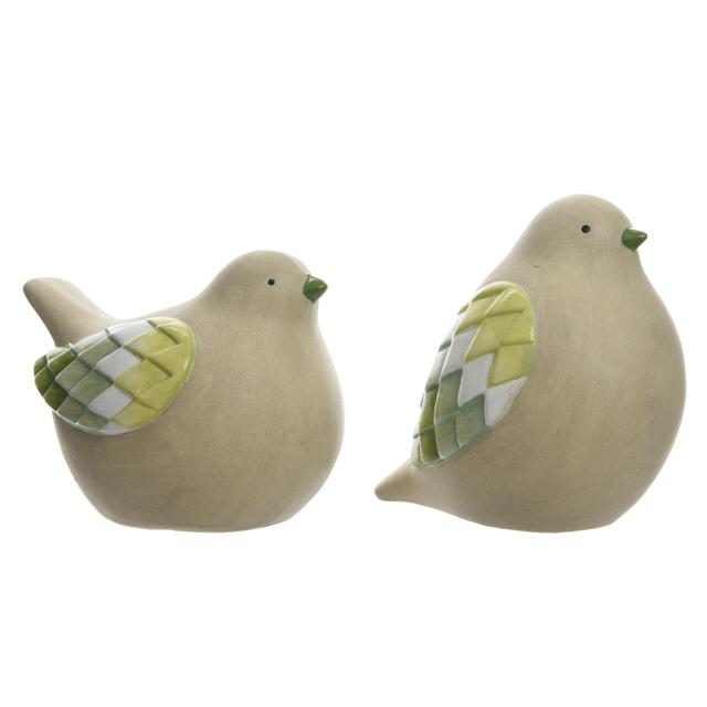 фигура садовая Птица 12см терракота зеленый в асс-те фигура садовая гном лежит 26см серый в асс те