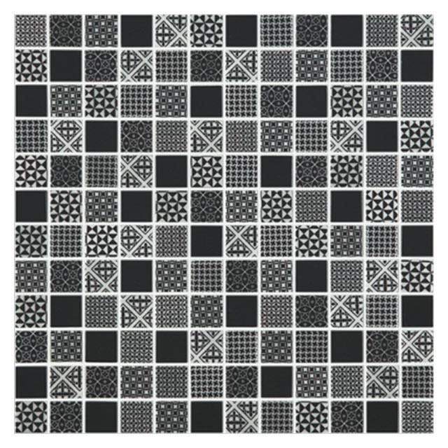 мозаика стеклянная 31,7х31,7х0,4 Born Black, черная