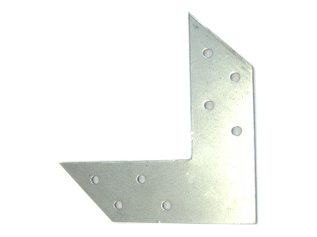 уголок плоский крепежный 120x120x35мм оцинкованный
