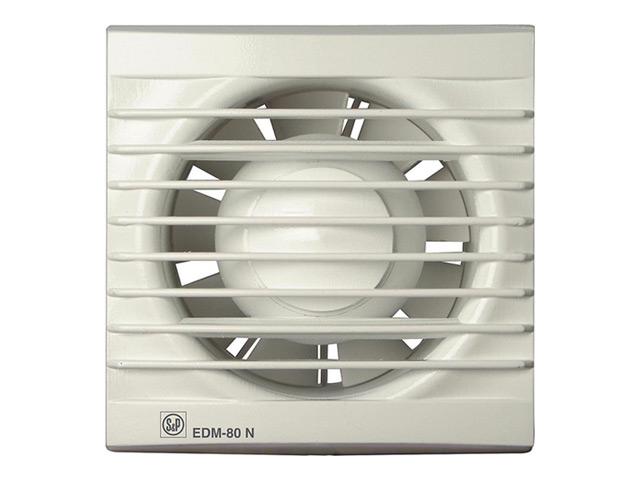 вентилятор фланцевый S&P EDM 80N белый