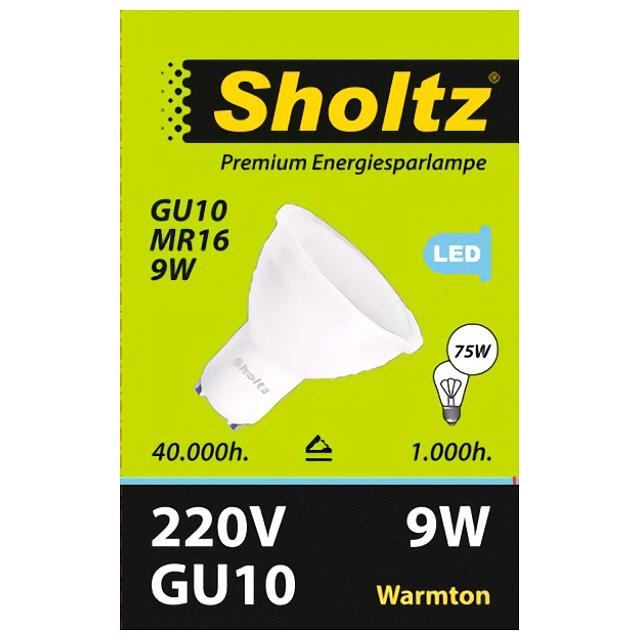 лампа светодиодная SHOLTZ 9Вт GU10 700лм 2700K 220В рефлектор