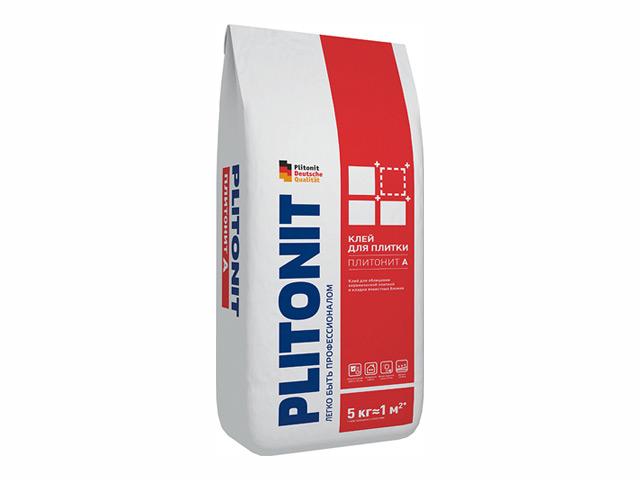 клей для кафельной плитки Плитонит-А 5кг, арт.Плитонит А-5