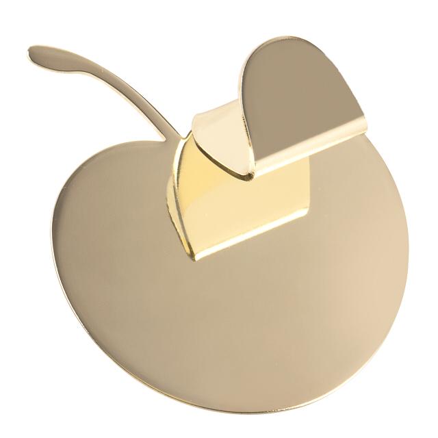 крючок MOROSHKA Fairytale Яблоко одинарный золото крючок одинарный moroshka fairytale цвет белый xx005 45