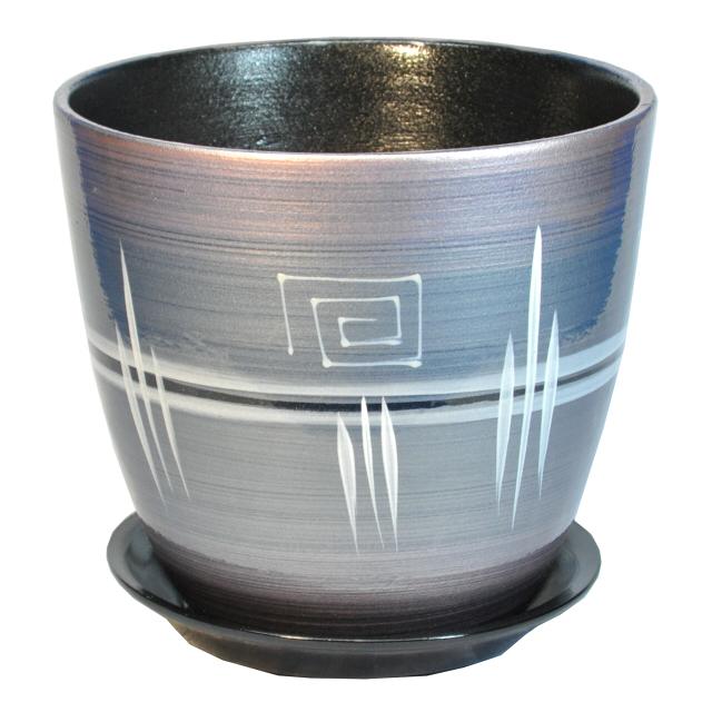 Фото - горшок керамический Бутон Браслет, диаметр 21 см, 5,4 л, розовый браслет розовый кварц биж сплав сталь хир 16 см 3 см