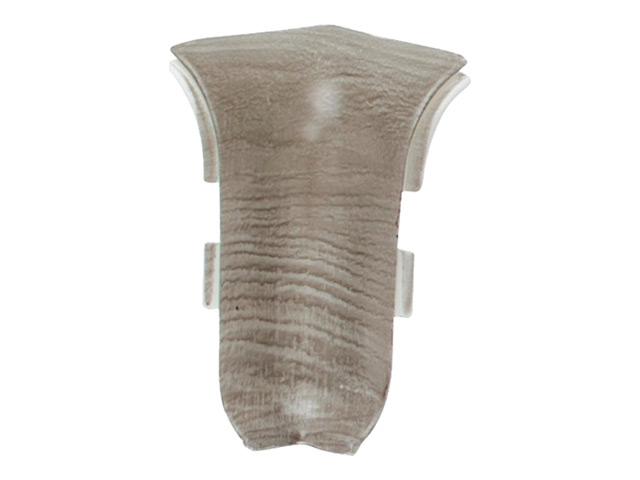 угол внутренний для плинтуса ПВХ SALAG NGF 56мм Шато серый 1шт.
