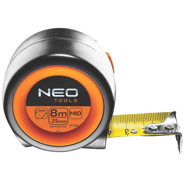 рулетка NEO 8мx25мм магнитная с автостопом