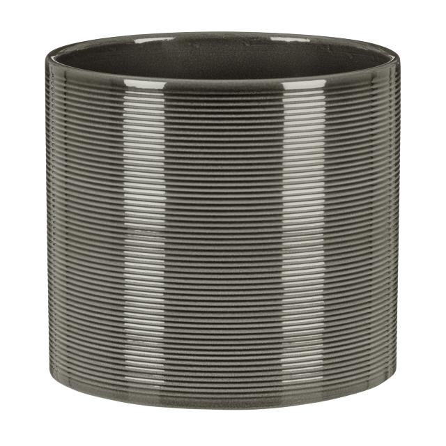 кашпо керамическое Glass Grey 828 d-19 см
