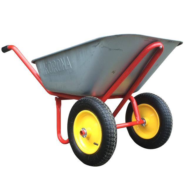 тачка строительная двухколёсная KORONA до 240кг тачка строительная одноколесная 90 л 220 кг