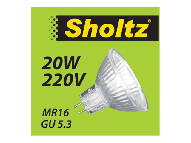 лампа галогенная SHOLTZ 20Вт GU5.3 200лм 2700K 220В спот