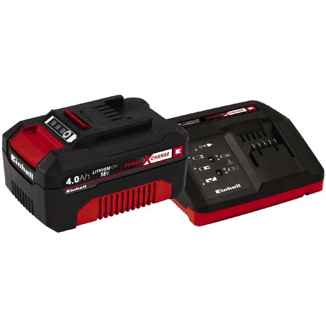 набор зарядное устройство + АКБ EINHELL 18В 4Ач POWER X-CHANGE набор зарядное устройство акб einhell 18в 3 0ач li ion power x change