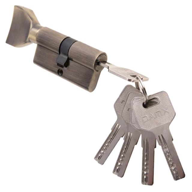 цилиндр ключевой DAMX 80мм 40+40 бронза вертушка ключевой цилиндр damx n70mm ac