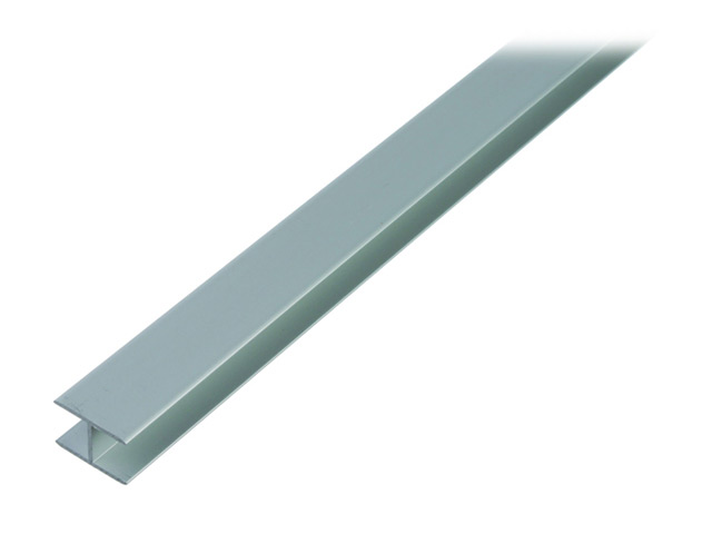 профиль алюминиевый H-образный серебро 1,5х8,9x20х2000мм